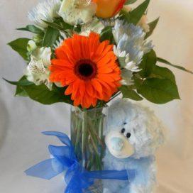 Blue Cuddles (FA13-03) Bear Included