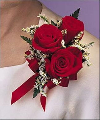 Red Rose Corsage (T91-2)