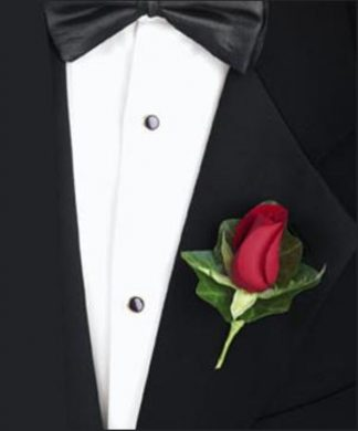 Red Rose Boutonniere (T97-1)
