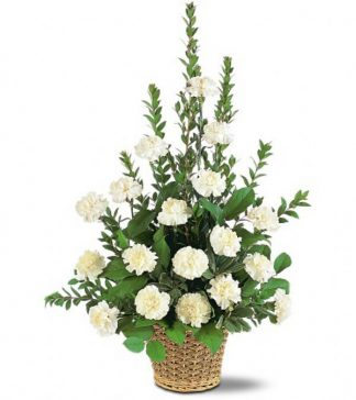 White Simplicity Basket (TF186-3)