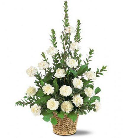 White Simplicity Basket (TF186-3)