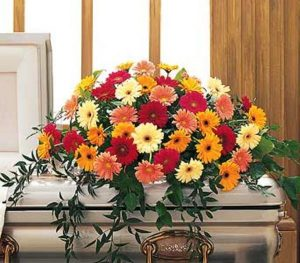 Gerbera Casket Spray (TF202-4)