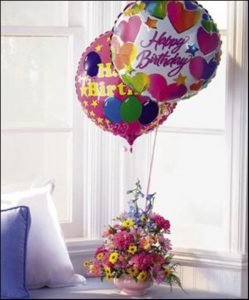 Birthday Surprise (T43-3)  (includes 2 mylar balloons)