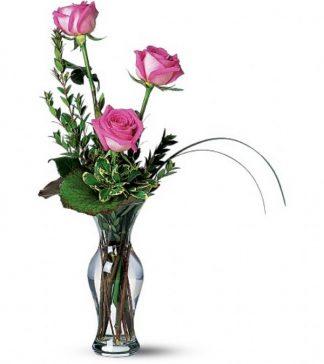 Classic Rose Bud Vase (T31-1)