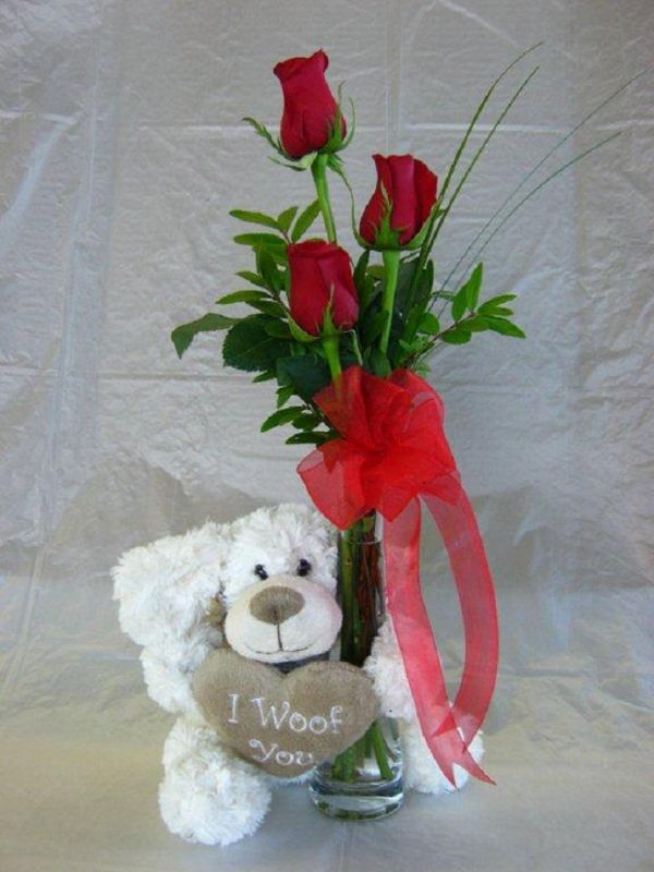Puppy Love (VD13-01) - Bunches Flower Co.