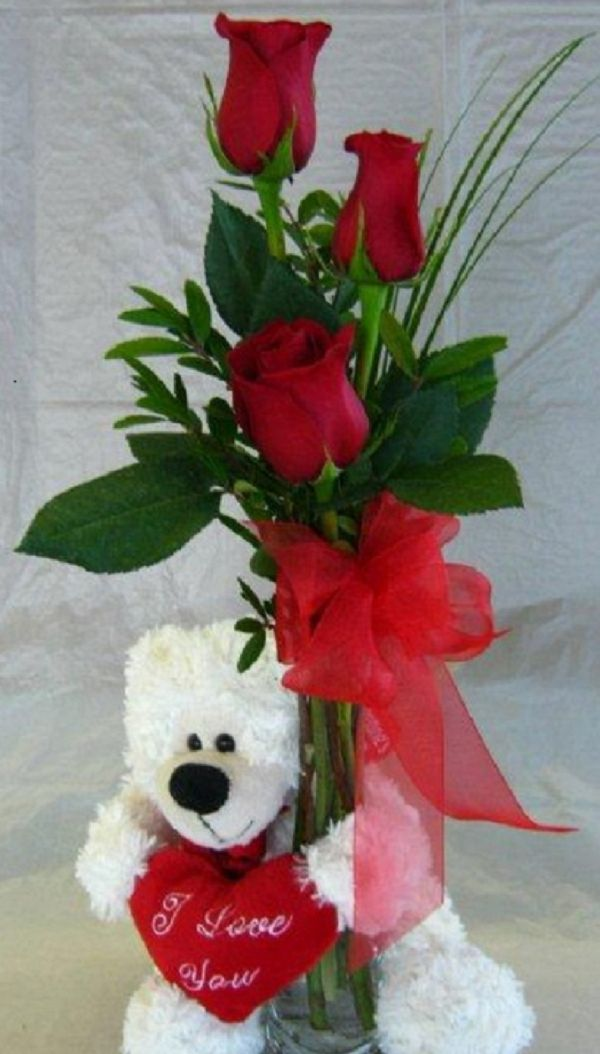 I Love You! Teddy Bear (VD13-02) - Bunches Flower Co.