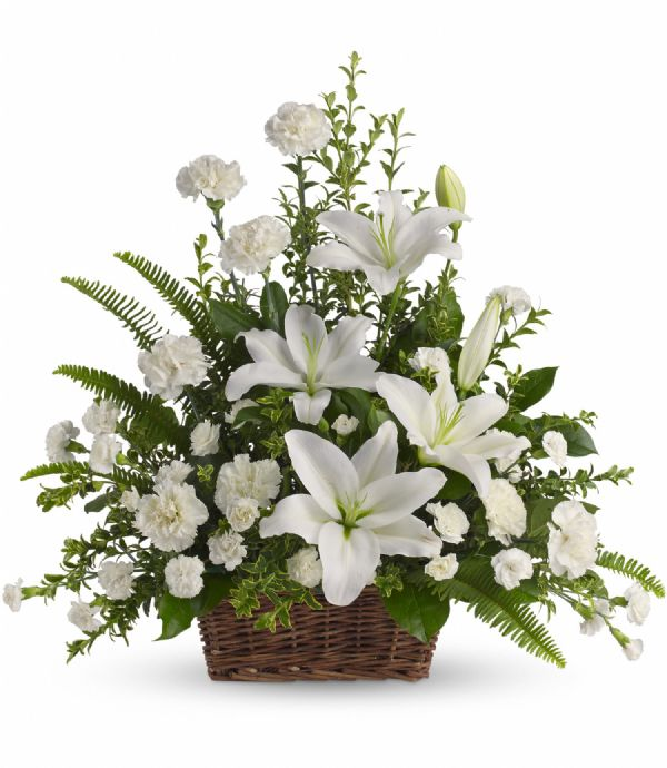 Peaceful White Lilies (T228-1A)