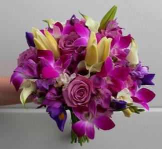 Purple Orchid Posie (WED13-08)