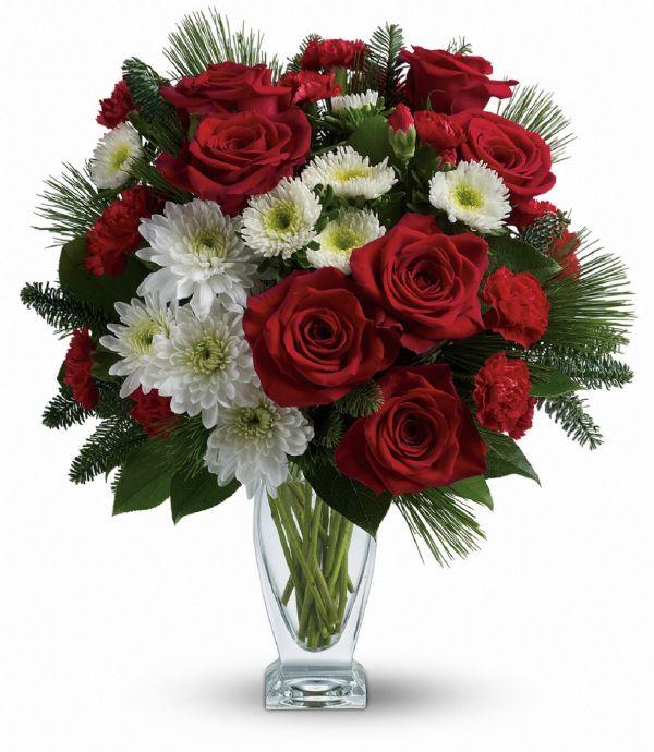 Winter Kisses Vase (TWR12-1A)