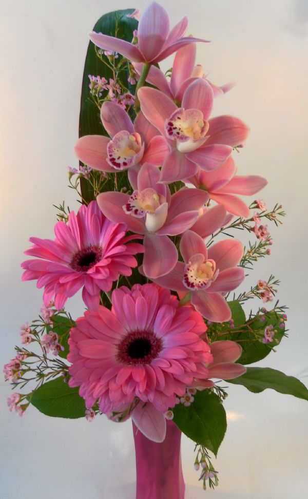 Orchid vase pink lemonade sw15 01 bunches flower co orchid vase pink lemonade sw15 01 mightylinksfo