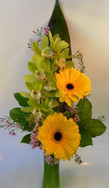 Orchid Vase - Lemon-Lime (SW15-02)