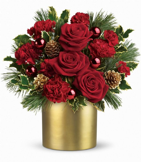 Holiday glow t a bunches flower co