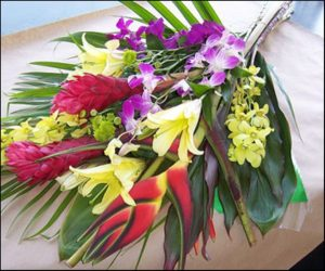 Tropical Super-Bunch with Orchids (VD08-07d)