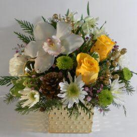 Glistening Golden Orchid Pot (XM20-06)